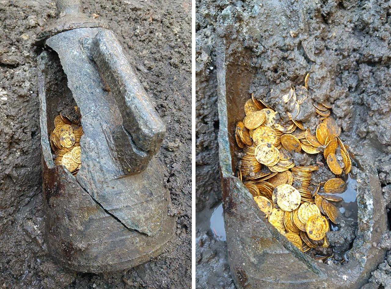 밀라노서 고대 로마 금화 무더기 발견