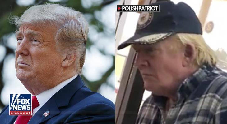 편의점 간 트럼프 대통령?…똑닮은 '