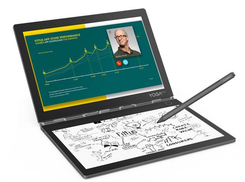 키보드 없는 노트북? LCD+전자잉크