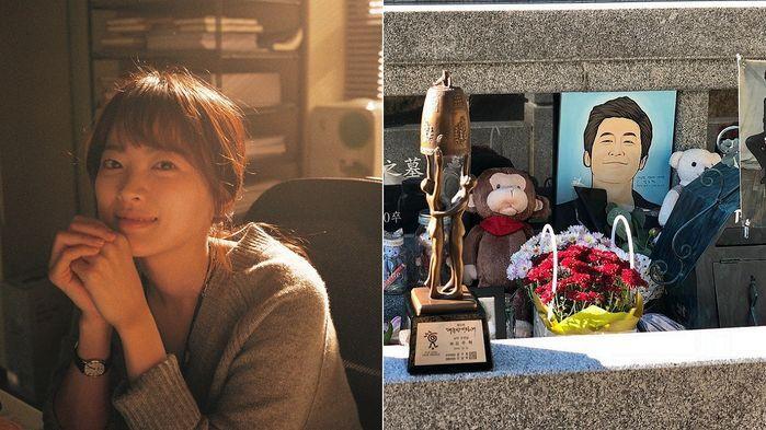 """""""평안하세요""""…故 김주혁 묘소 찾아"""
