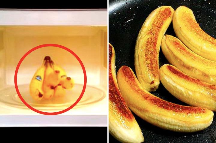 바나나를 전자레인지 30초 돌렸더니