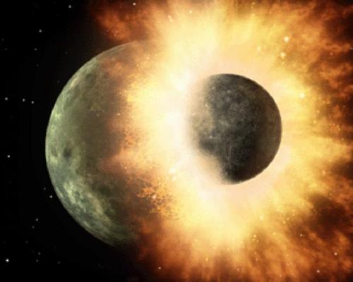 지구와 화성급 행성 충돌이 생명 씨앗