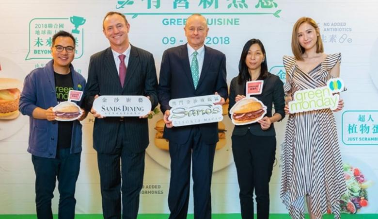 """데 비드 융 그린먼데이 대표(좌측)는 """"식단의 변화가 기후변화를 막는 가장 쉬운 방법""""이라고 말했다. [그린먼데이 제공]"""