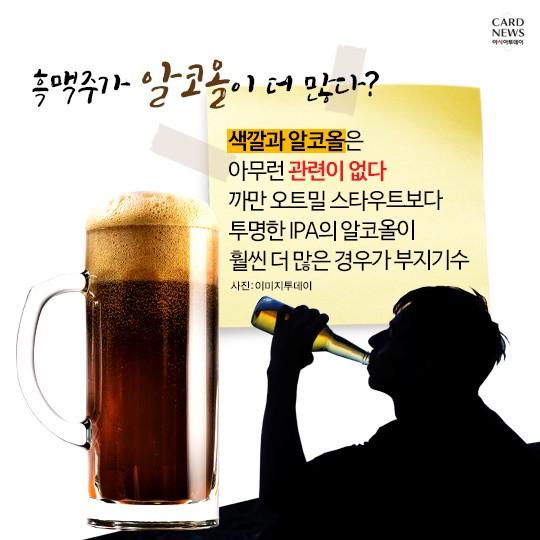 '맥주 기포 생기면 더러운 컵?!'