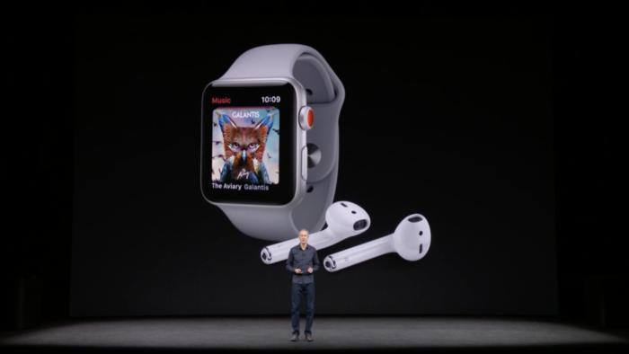 LTE 더한 애플 워치 시리즈 3,