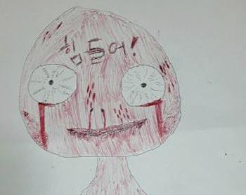 악몽 시달린 여학생 그림엔 '피 범벅