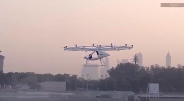 드론 택시 두바이 도심서 첫 시범운항