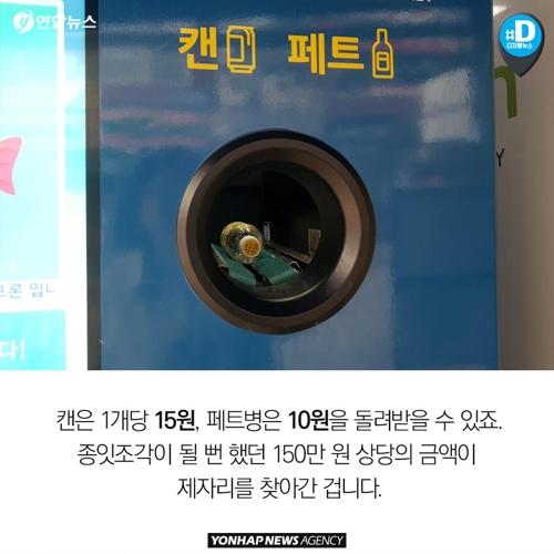 쓰레기가 돈으로 변하는 마법의 자판기