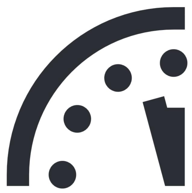 지구 종말 시계, 자정 2분 전까지