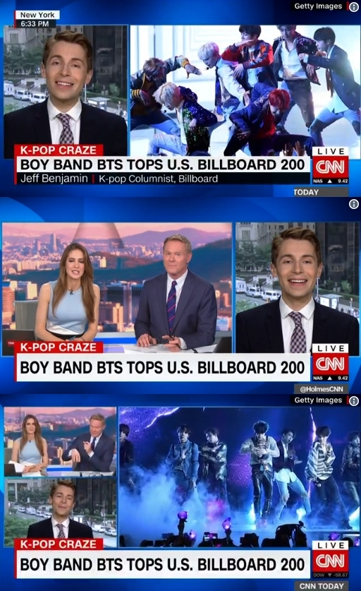 CNN, 방탄소년단 빌보드 점령 집중