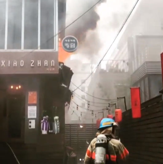 헨리 운영 중식당, 건물 화재→영업