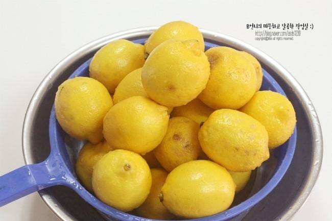 레몬청&블루베리레몬청