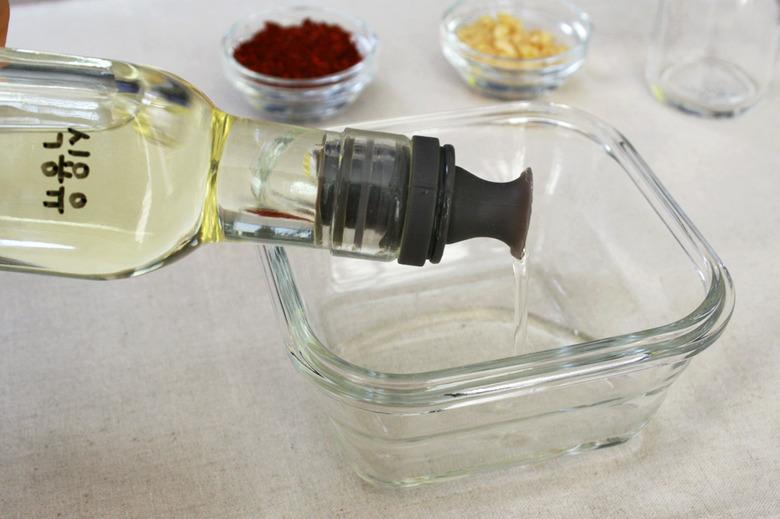 초간단 전자레인지 고추기름