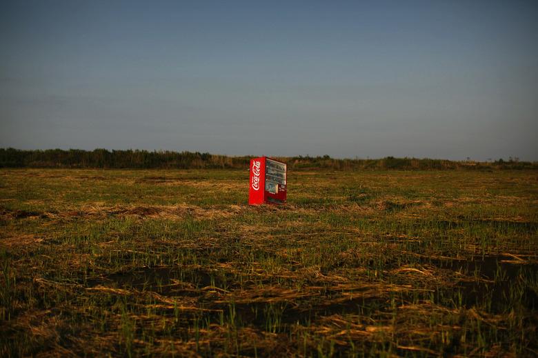 후쿠시마 쓰나미에 밀려온 자판기