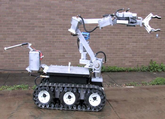 무장범 총 빼앗은 폭탄처리로봇