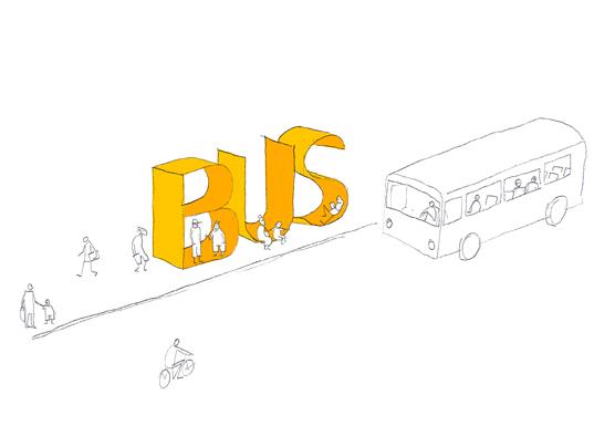 위로의 디자인, 버스정류장에서
