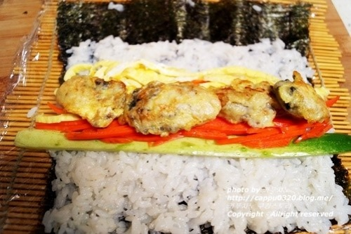 제철굴활용~ 색다른 굴김밥