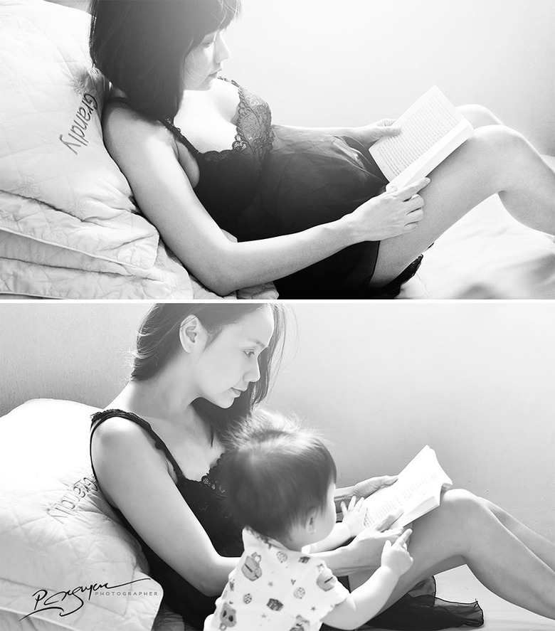 여자에서 어머니가 되는 숭고하고 아름