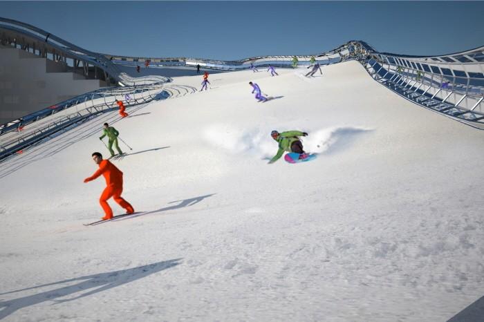 옥상에 가면 스키장이…