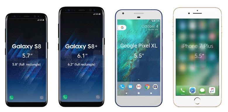 갤럭시S8/S8+ vs G6, 아이폰