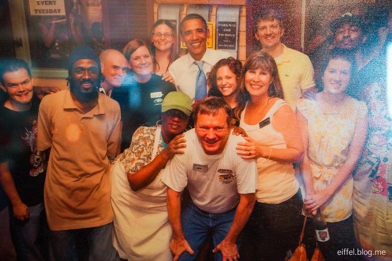 오바마의 흔적을 찾아, 미국 레스토랑