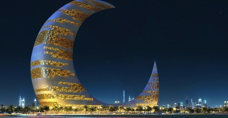 마천루의 도시 두바이 '이번엔 초승달