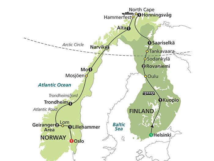 헬싱키에서 오슬로까지! 눈부신 북유럽