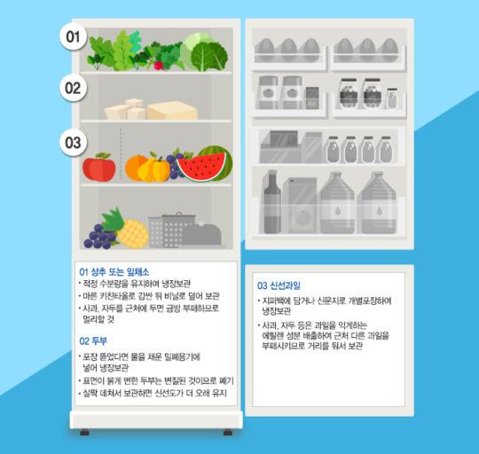 냉장고 직행은 이제 그만, 식재료별