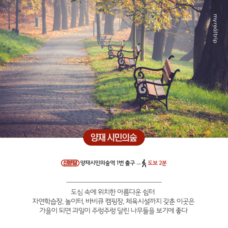 서울 지하철로 가기 좋은 단풍 명소