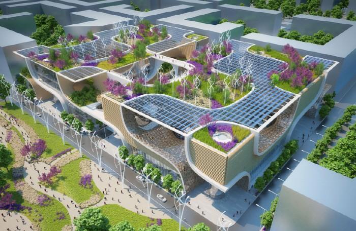 미래에서 온 듯… 친환경 쇼핑몰
