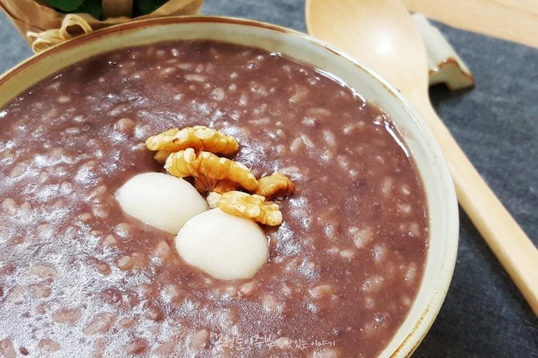 겨울에 먹는 새알 팥죽 만드는 법,