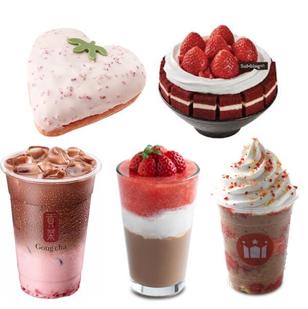 공차와 설빙이 딸기에 빠졌다! 카페별