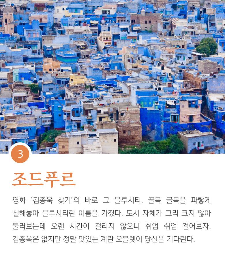 한국인이 가장 많이 찾는 인도 도시