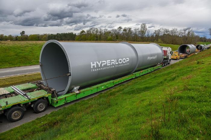 하이퍼루프, 프랑스서 실제 크기 튜브