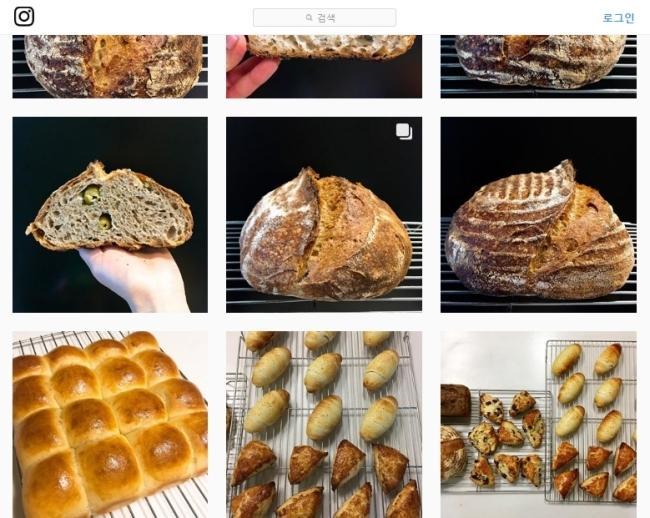 김 아나운서의 인스타그램 계정에 올라온 사진 대부분은 빵이다. [사진=김경란 아나운서 인스타그램]