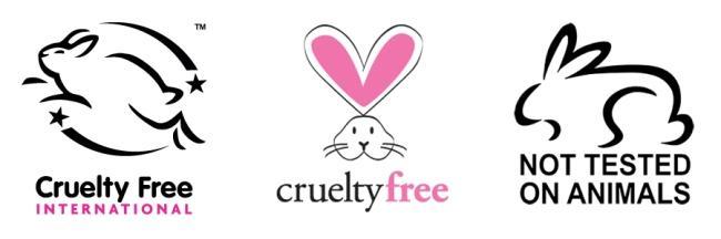 동물실험을 하지 않았음을 인증하는 크루얼티 프리(Cruelty Free) 마크들