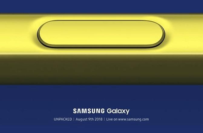 8월 9일 공개 갤럭시노트9. 디자인