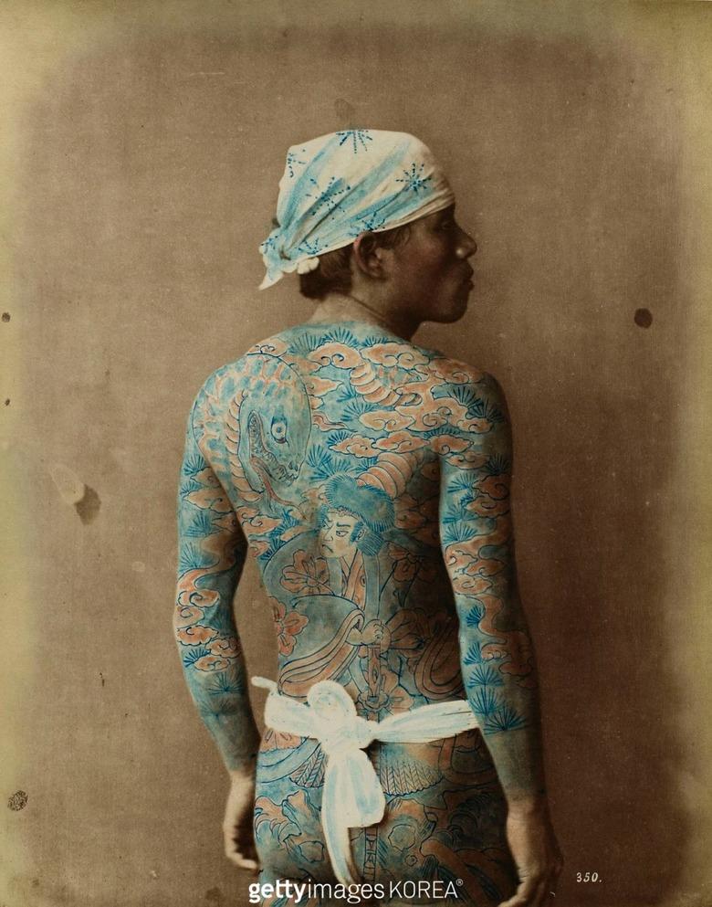 이미 1800년대 일본에서 타투 패션