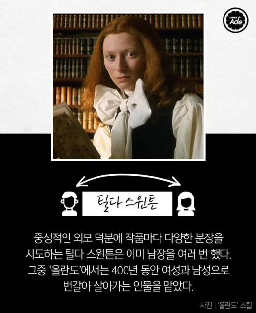 남자? 여자? 싱크로율 100% 배우