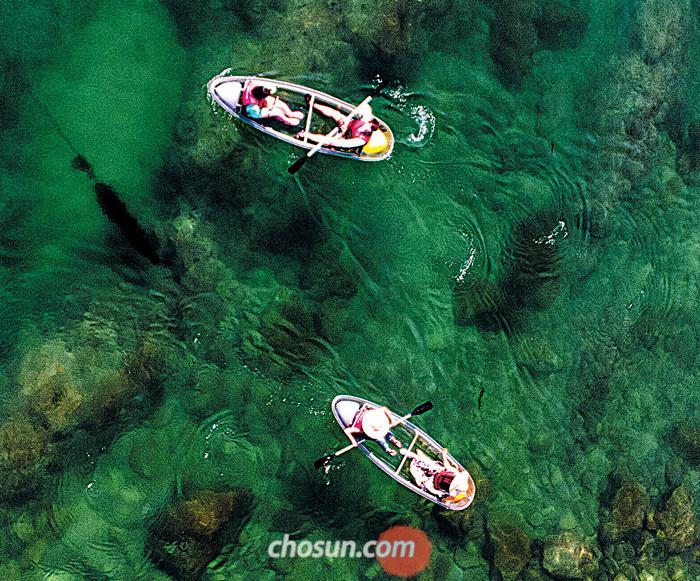 초록빛 바닷속, 아찔한 해상케이블카,