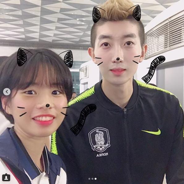 '소녀팬' 임애지, 축구 대표팀과 깜