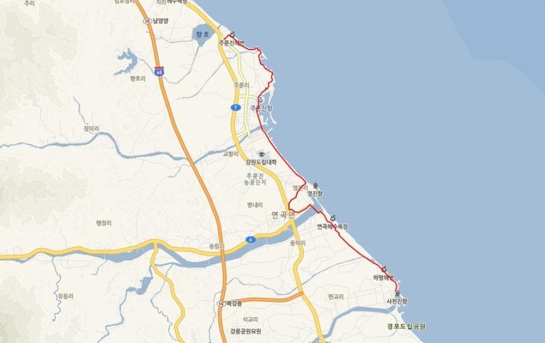 아름다운 강릉해변 백사장을 걷다, 해
