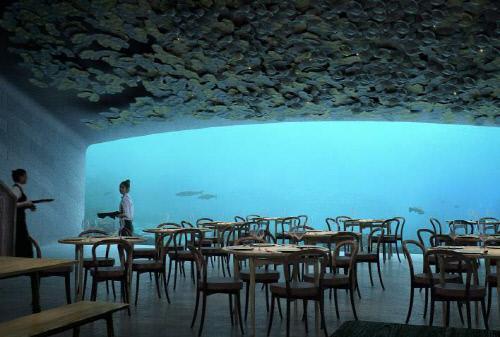 해저, 얼음, 사막, 창공에서의 식사
