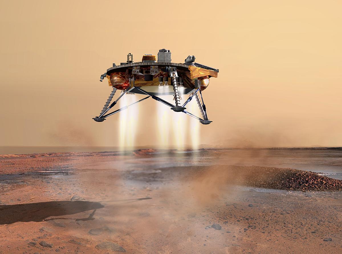 화성탐사선 인사이트 착륙 실황, 지구