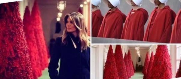 붉은 피? 러시아 상징?… 멜라니아