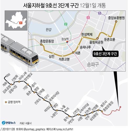 """""""밀지 마세요""""…9호선 연장 후 첫"""