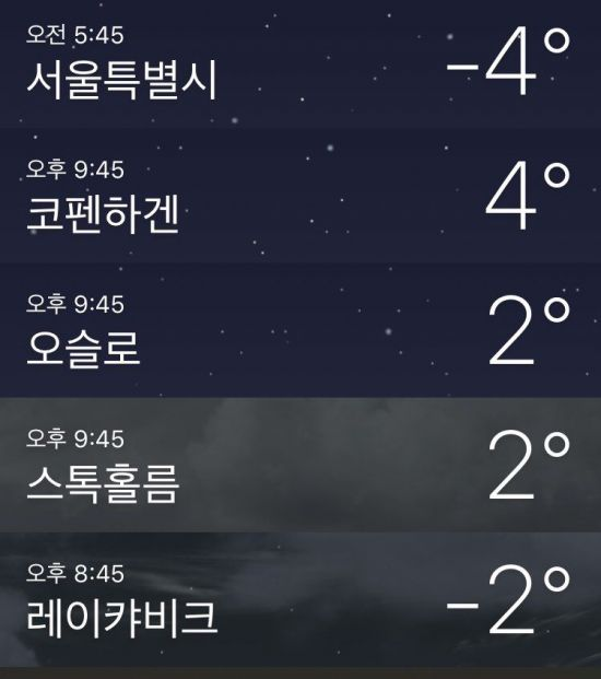 아이슬란드보다 추운 한반도...왜 우