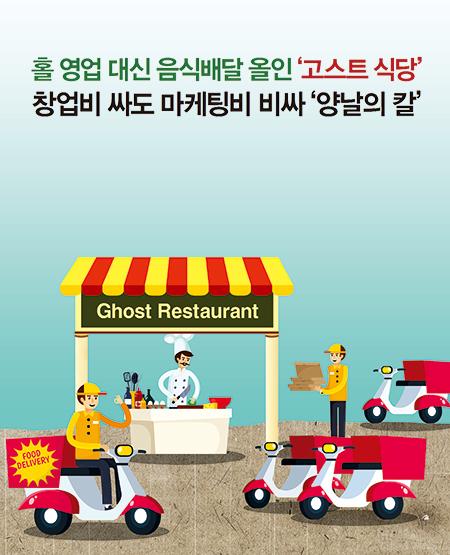 홀 영업 대신 음식배달 올인 '고스트