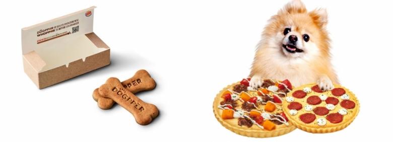 버거킹의 반려견용 햄버거 '독퍼'(좌)와 반려견용 피자인 '미스터펫자'(우)