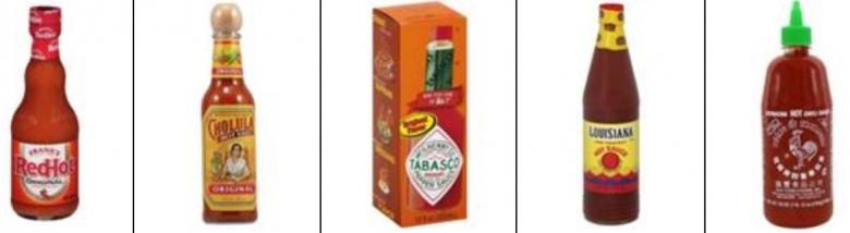 미국 월마트에서 판매중인 다양한 핫소스 제품들